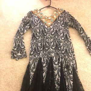 Never worn long sleeve gown